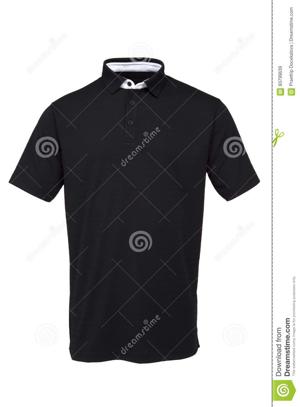 Black t shirt with white collar - Black Golf Tee Shirt With White Collar For Man
