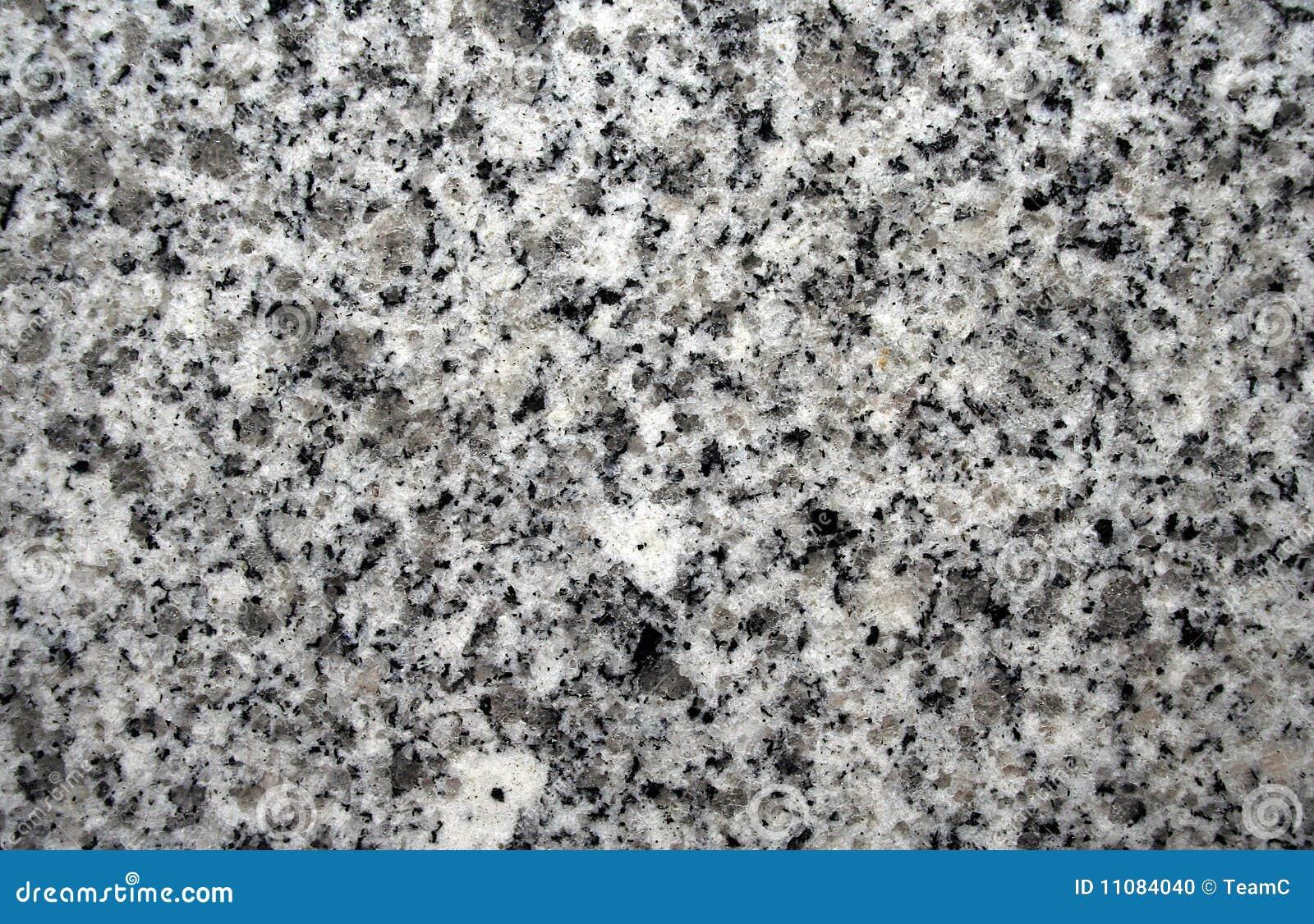 Black And White Granite : Black and gray granite stock photo image