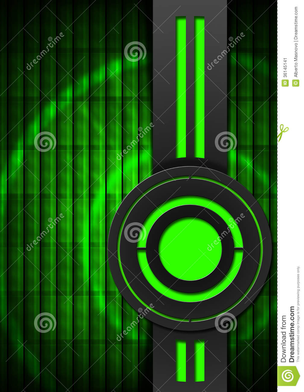 Black And Green Abstract Background Stock Image Image