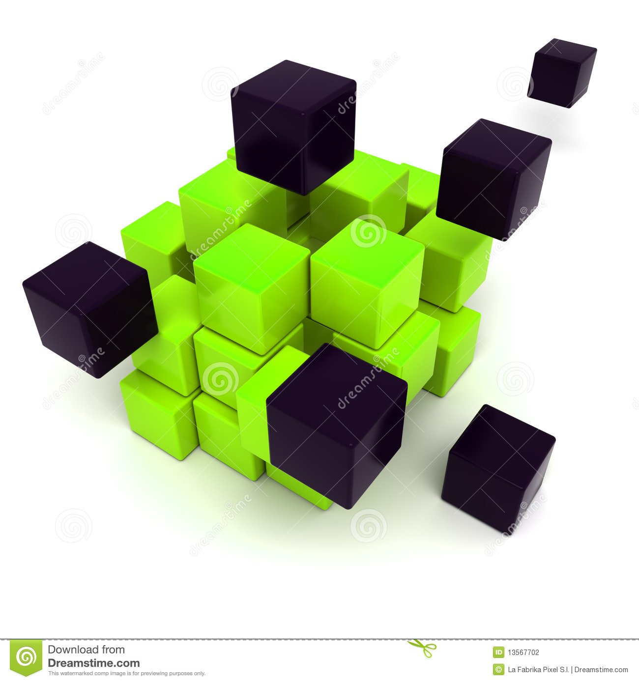 Black cubic corner space raster modern background for Cubi spaceo