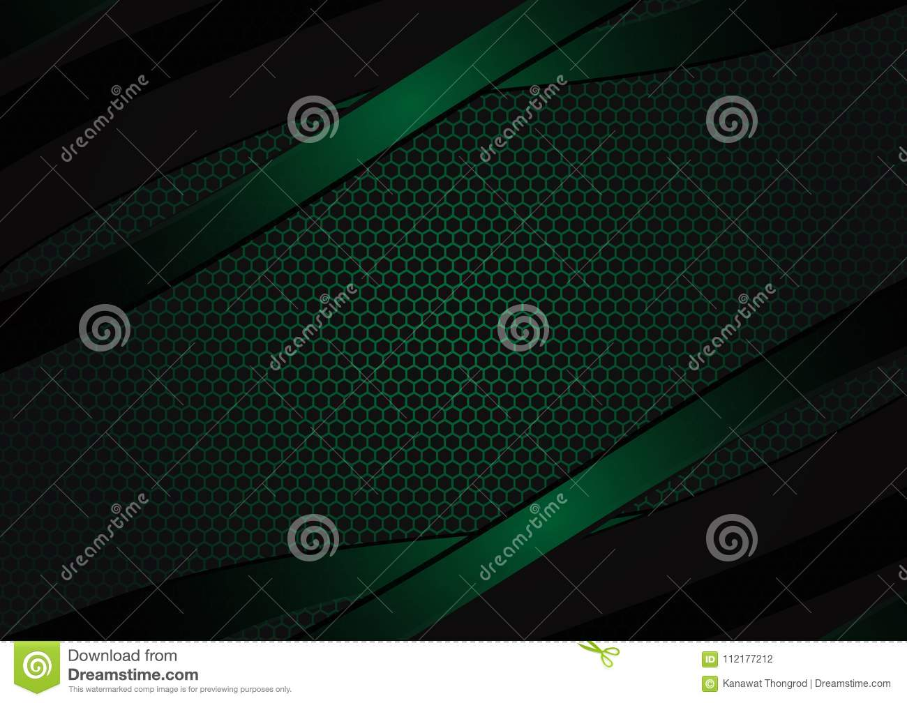 Black and green geometric abstract vector background with copy space with copy space modern design