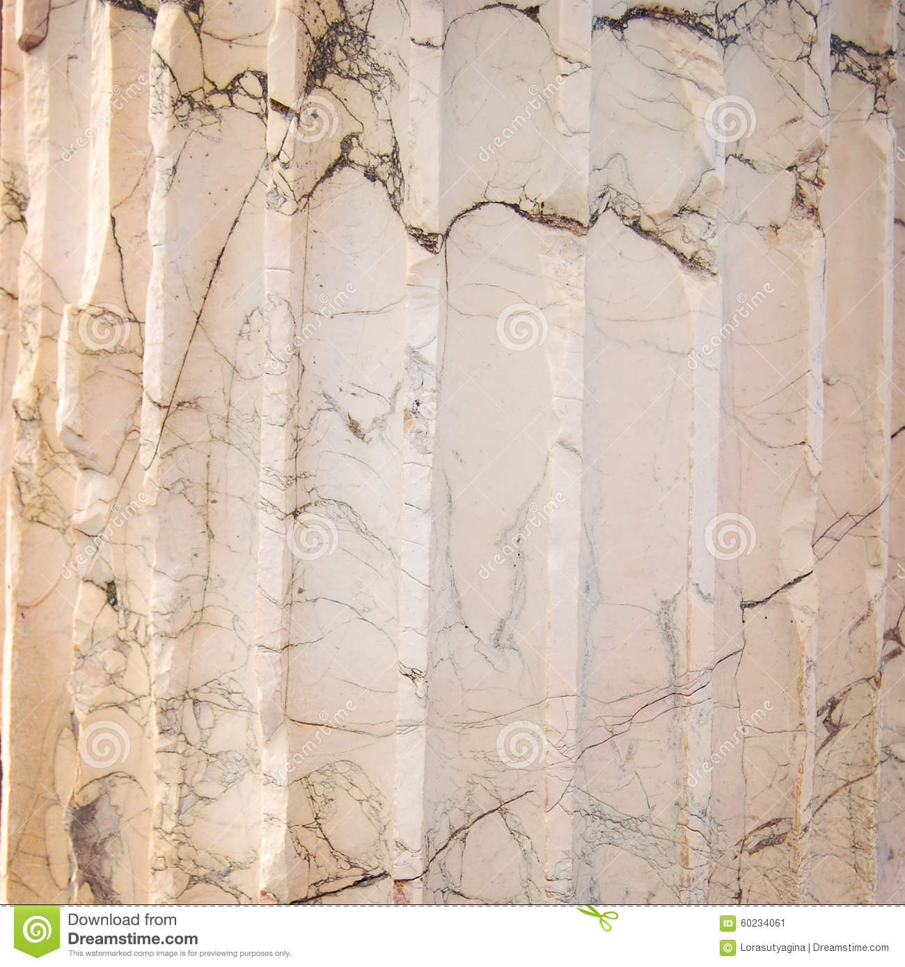 Black And Grey Striated Streaks In Marble Stock Photo