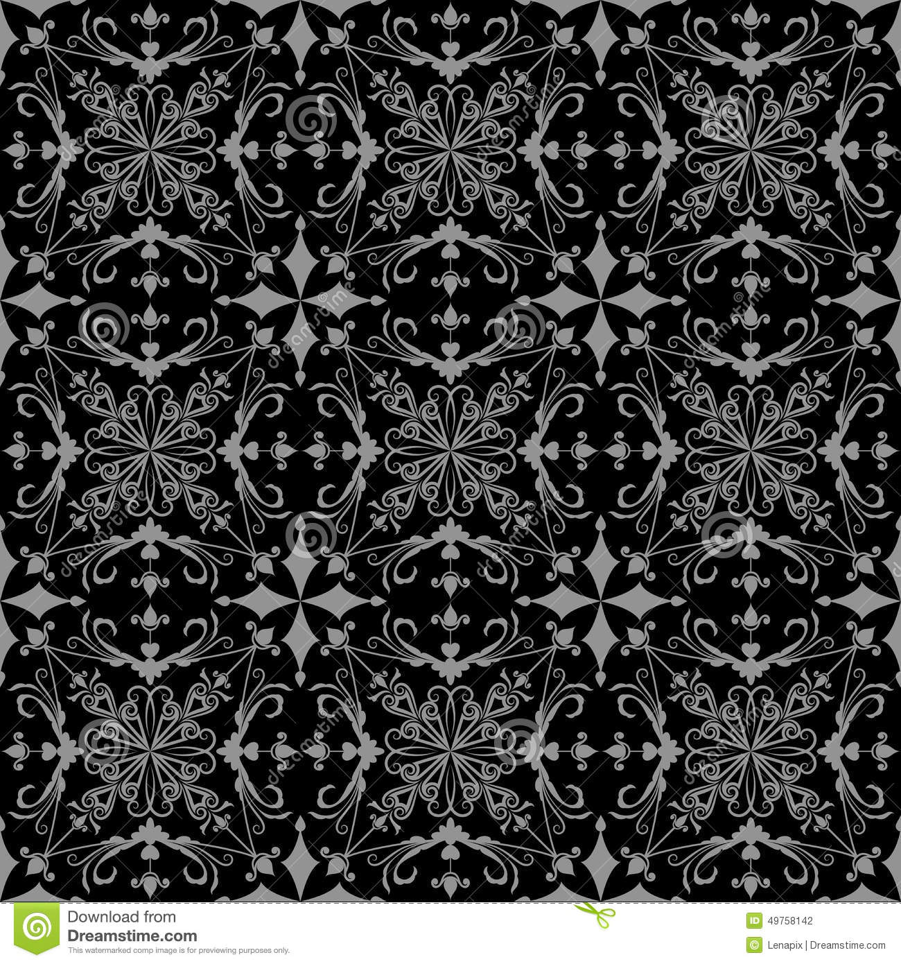 Black And Grey Wallpaper Pattern Stock Vector - Image
