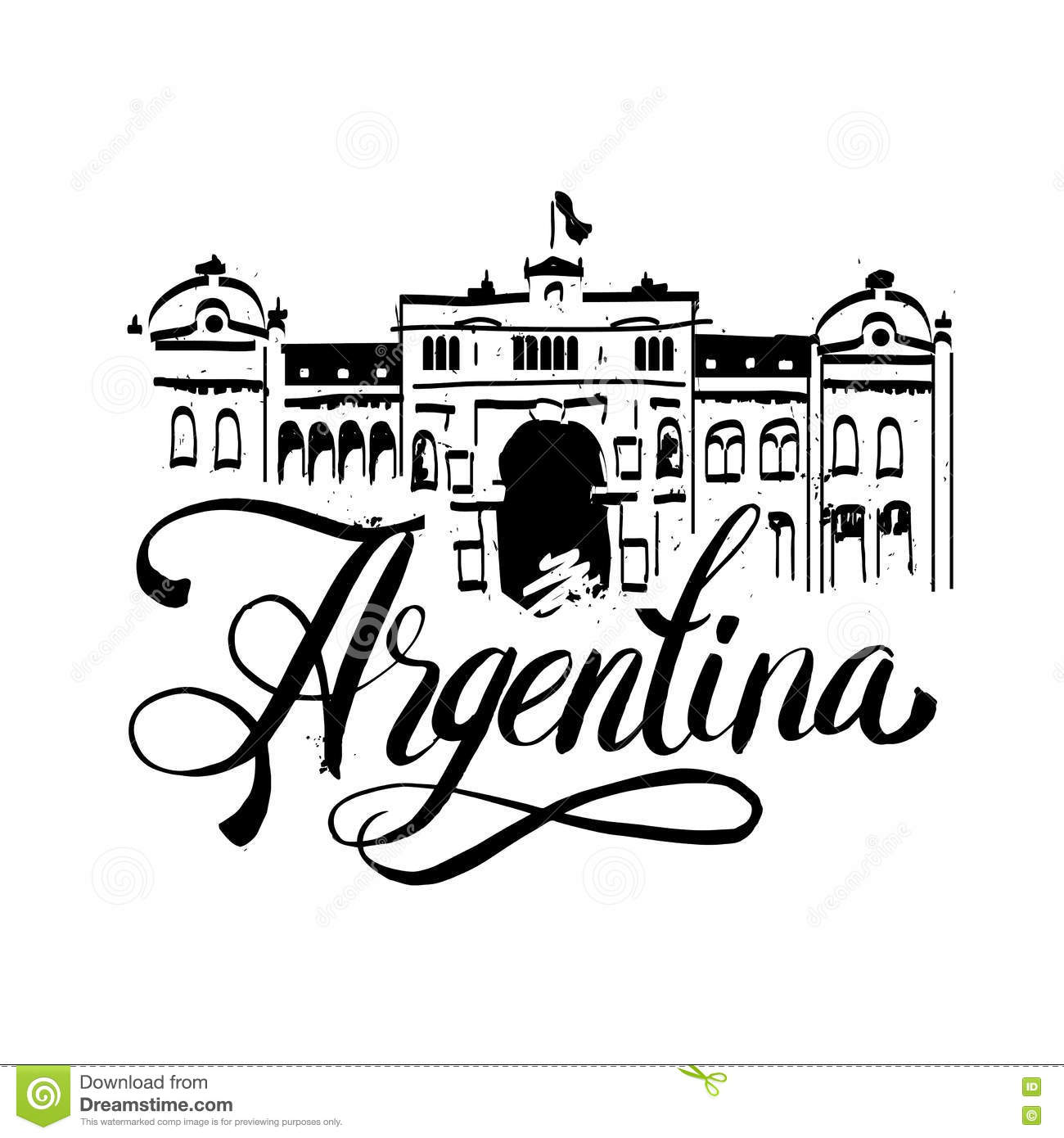 Black grunge rubber stamp with the name of Buenos Aires the capital of Argentina written inside the stamp