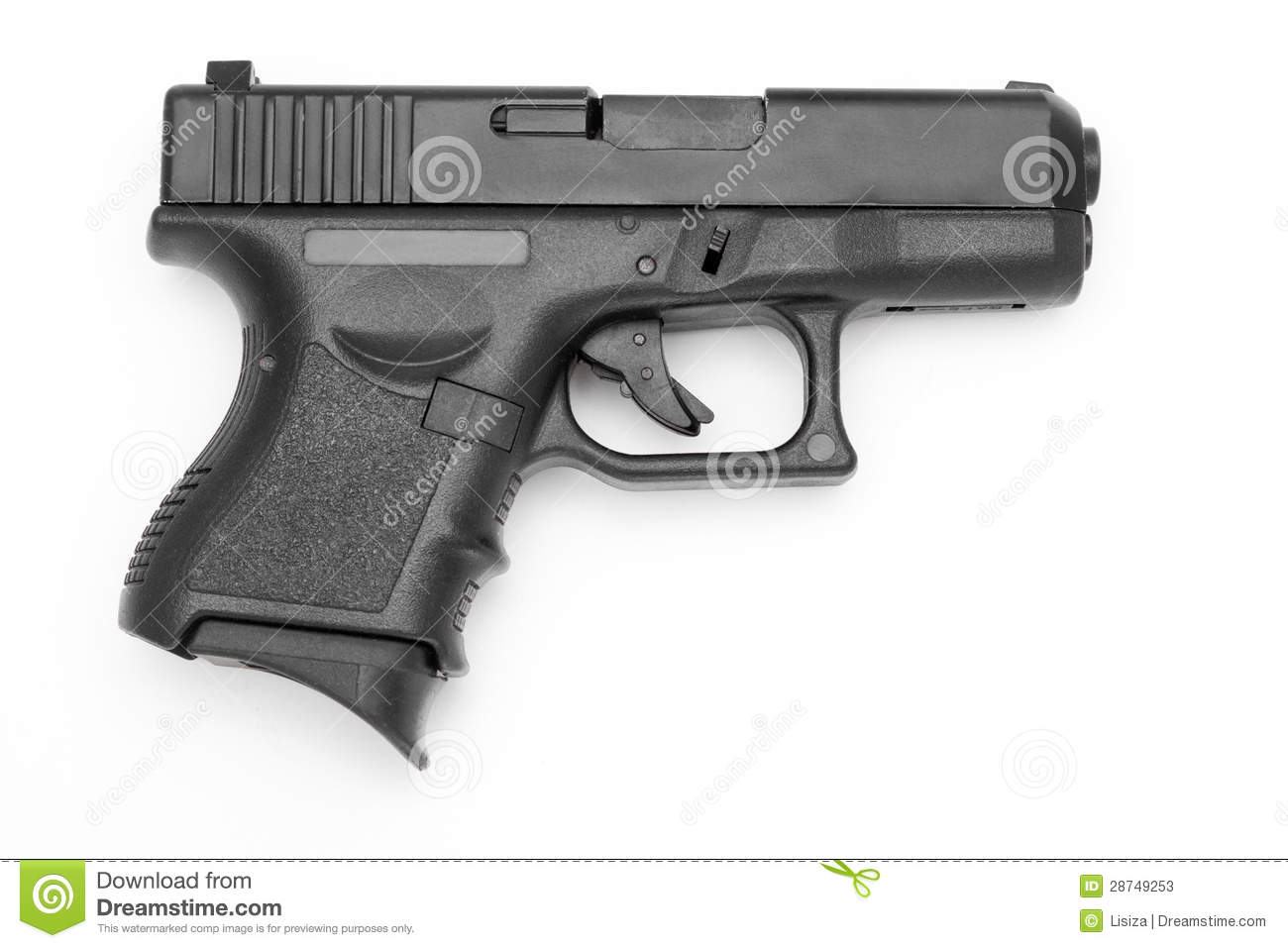 gun white background - photo #1