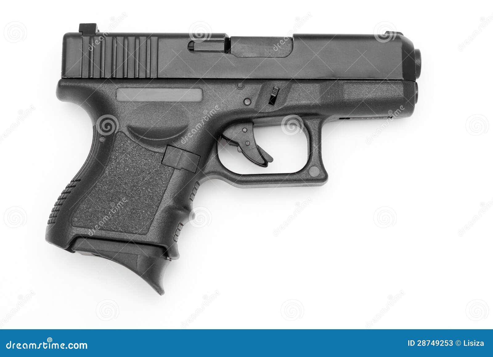 gun white background - photo #1