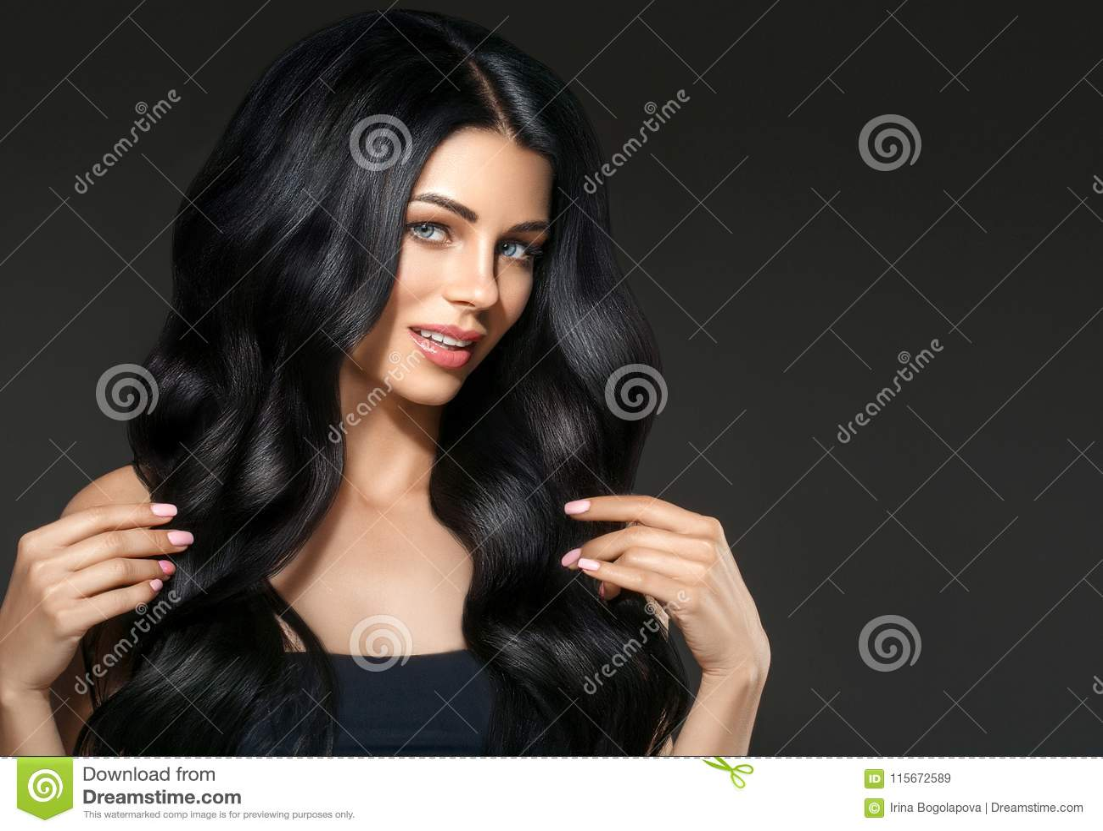 Black hair beauty woman beautiful portrait. Hairstyle curly hai