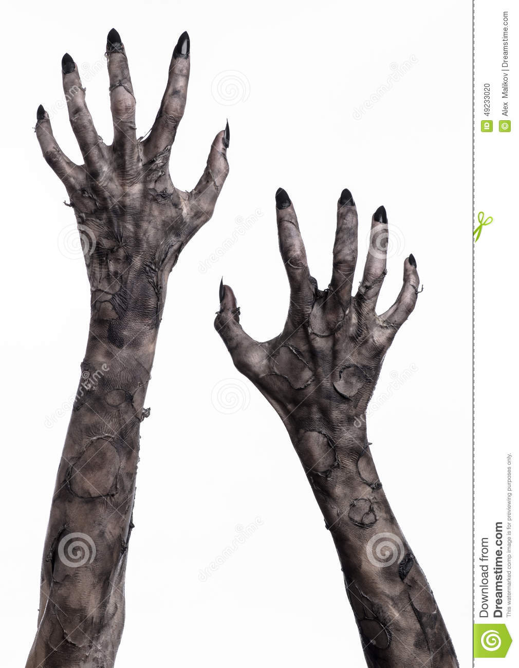 Photo: Black hand of death, the walking dead, zombie theme, halloween ...