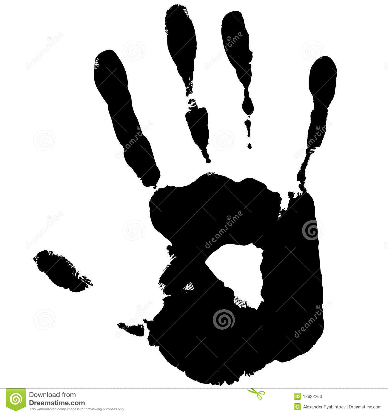 Black Hand Print Stock Vector. Image Of Arms, Night