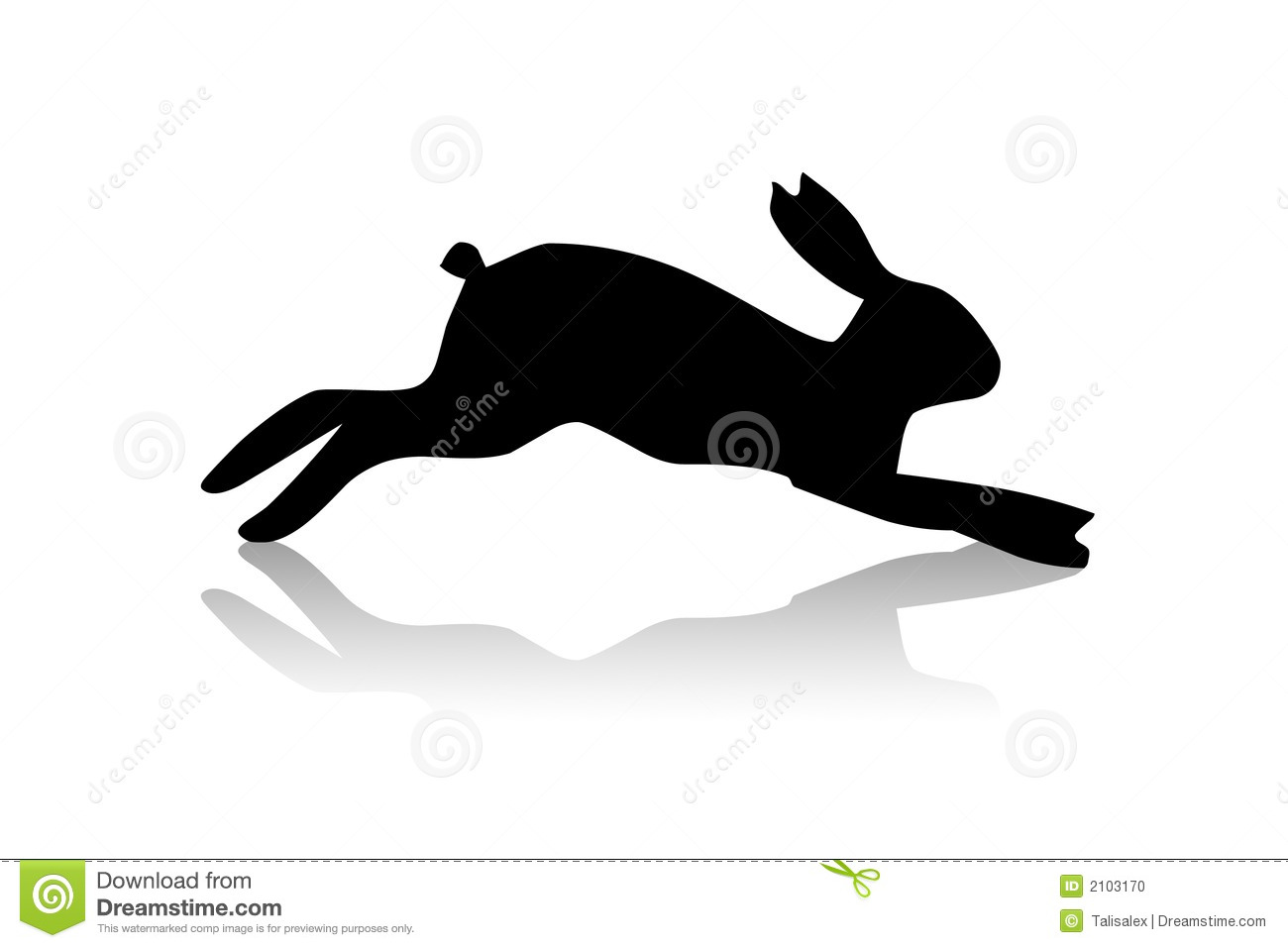 Black Hare Illustration Stock Photo - Image: 2103170