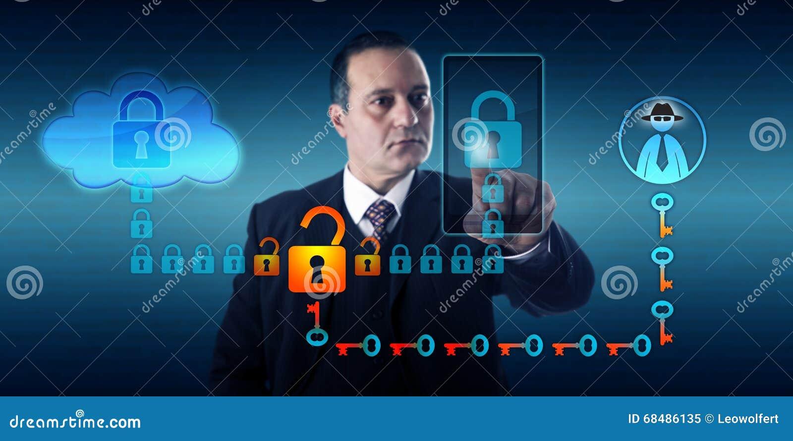 Black Hat Hacker Intercepting Smart Phone Stock Image