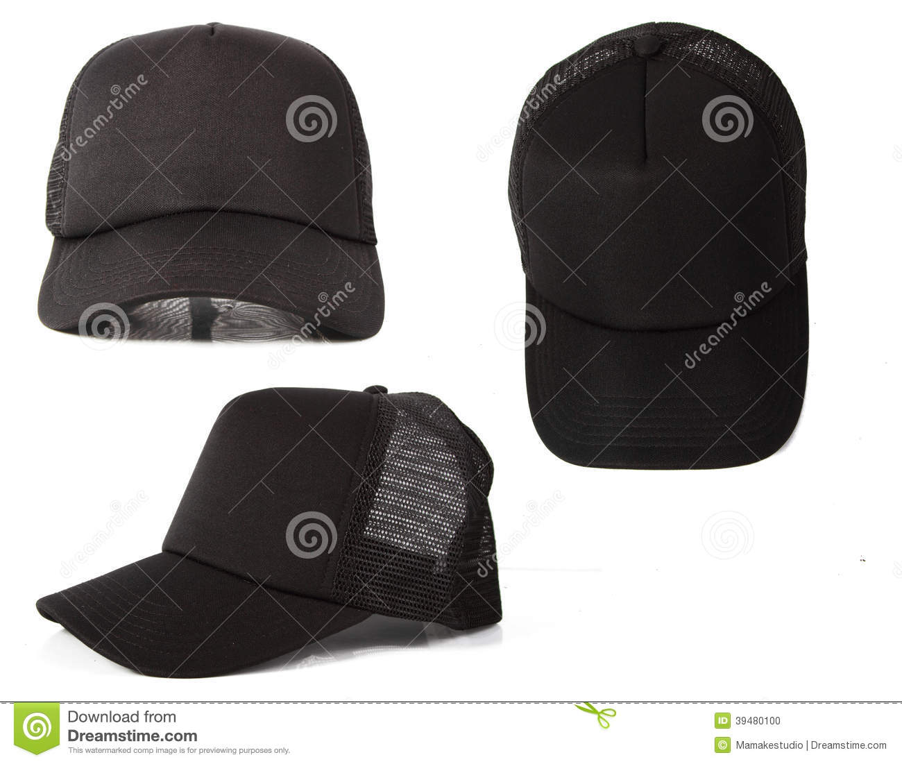 black hat template stock photo image of objects isolated 39480100