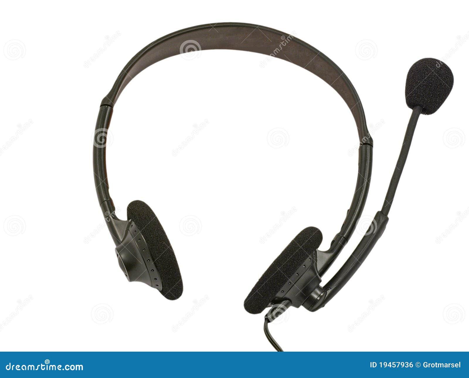 Black headset.