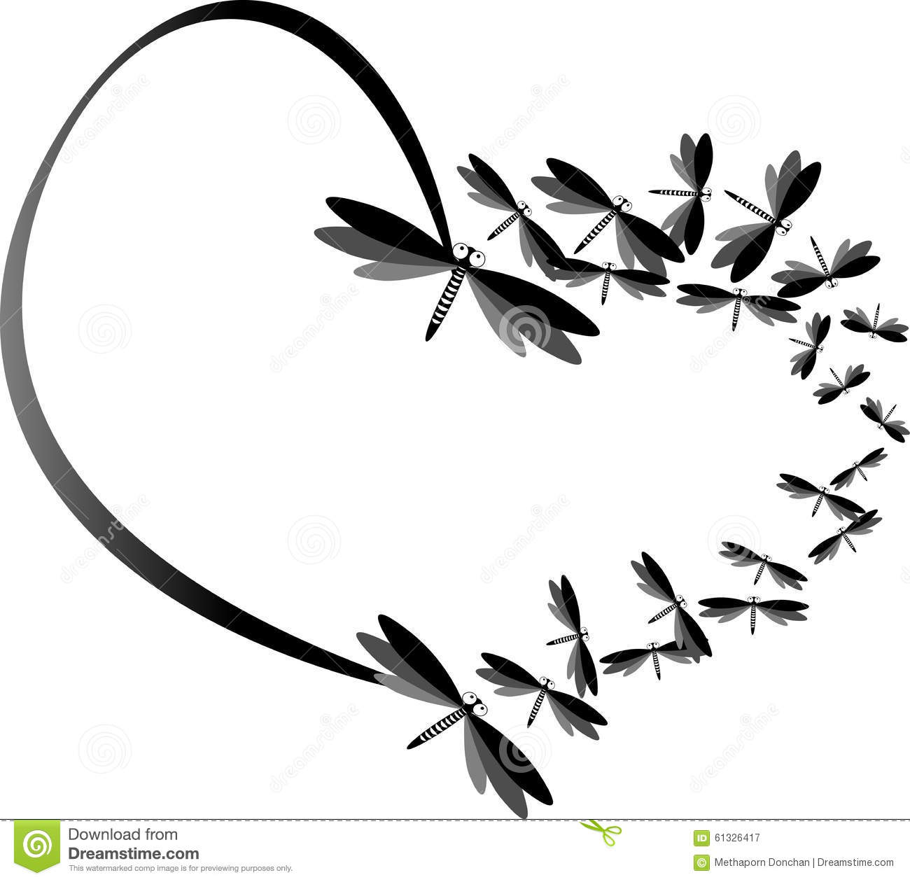 black heart made by dragonfly and illustration stock clip art dragonfly png clip art dragonfly free