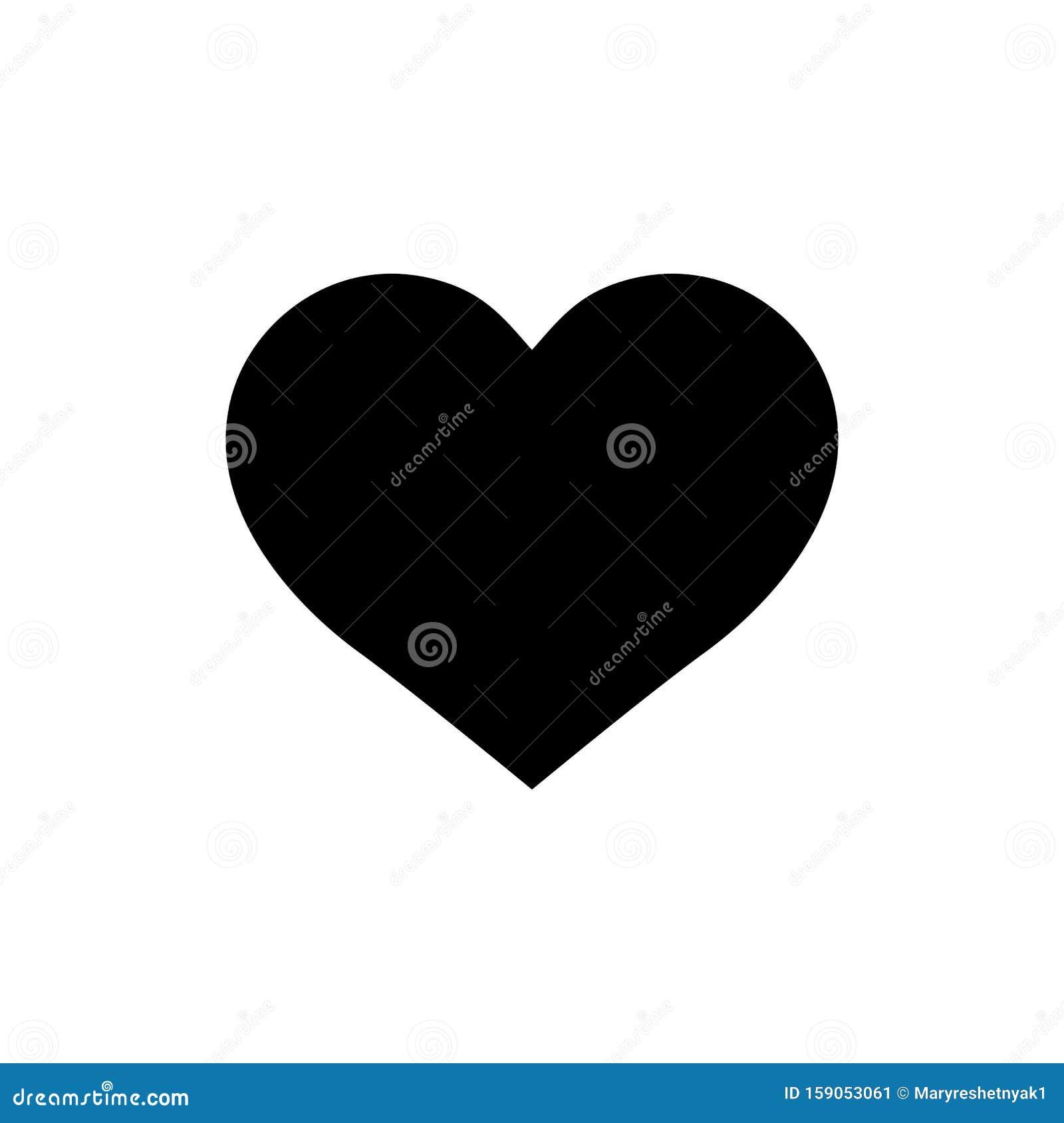 Black heart shape on isolated background.Like icon. Social media icon wirh heart. vector illustration