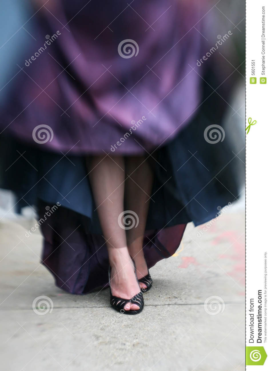 Black Heels and Prom Dress