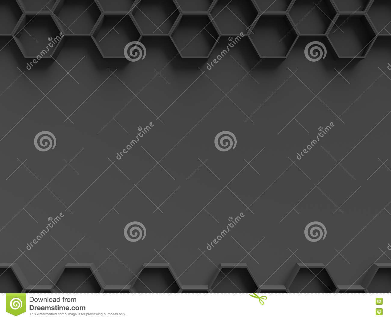 black hexagon pattern with dark background template for presentation