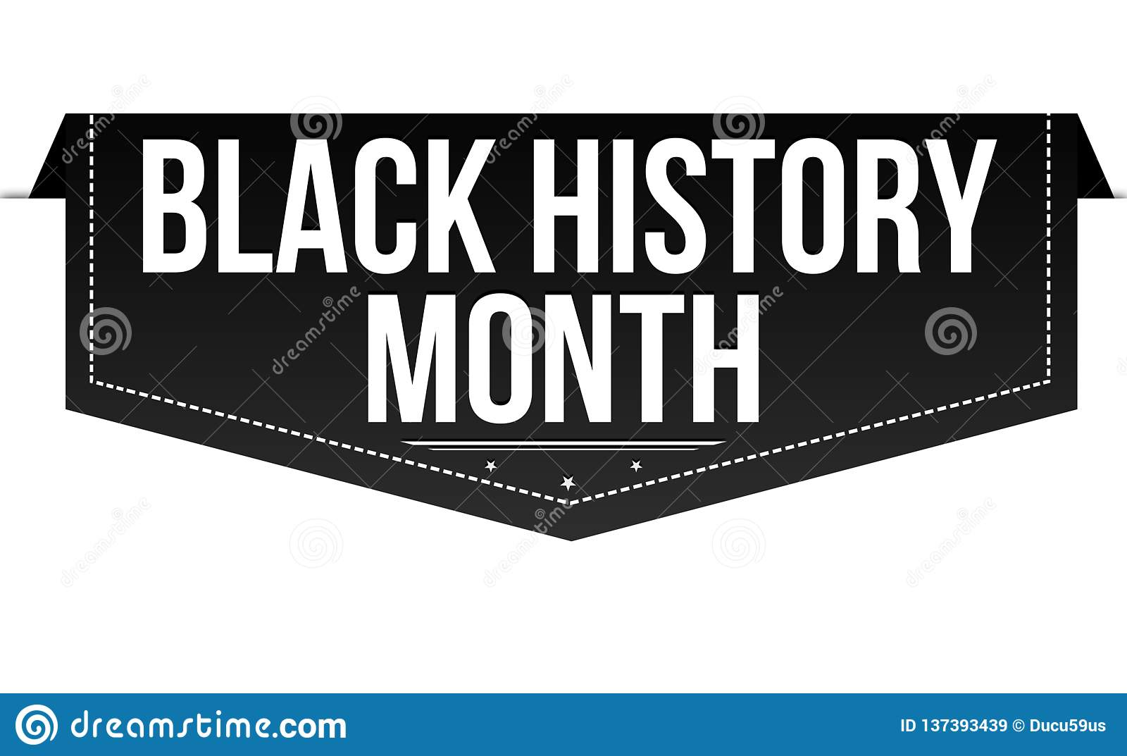 Black History Month Banner Design Stock Vector
