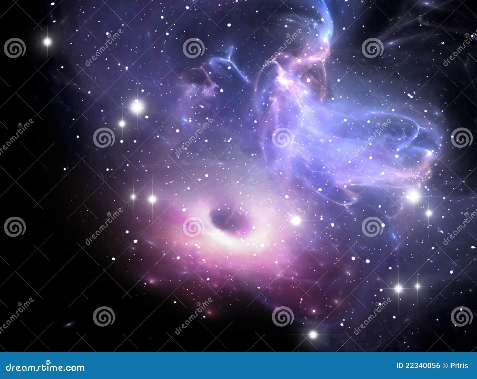 Black hole in the nebula