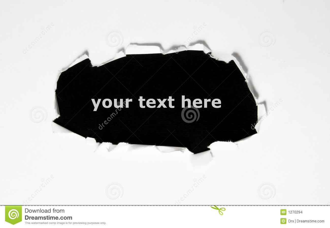 Black Hole In Paper Stock Images - Image: 1270294