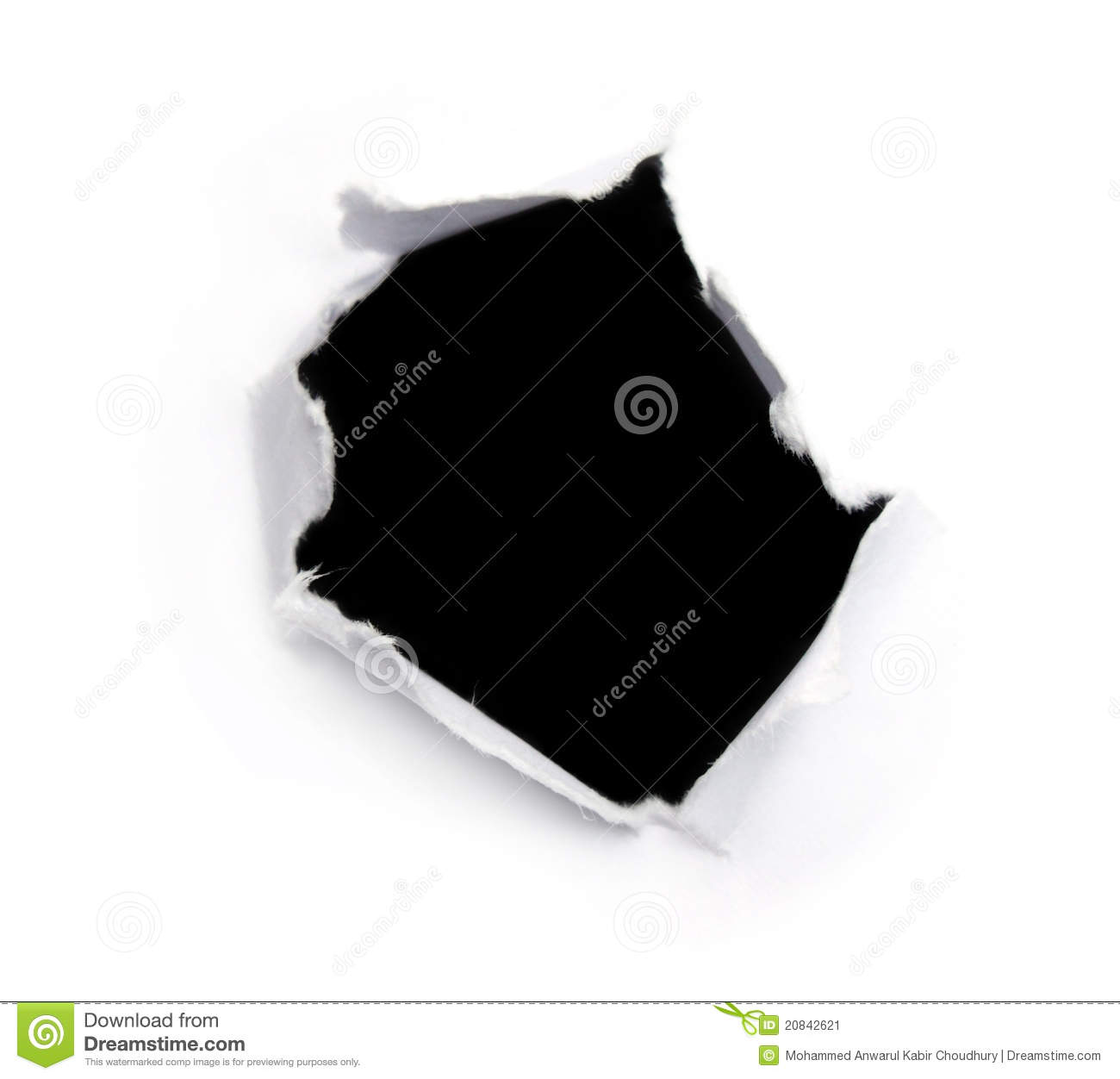 Black Hole On A White Paper Stock Image - Image: 20842621