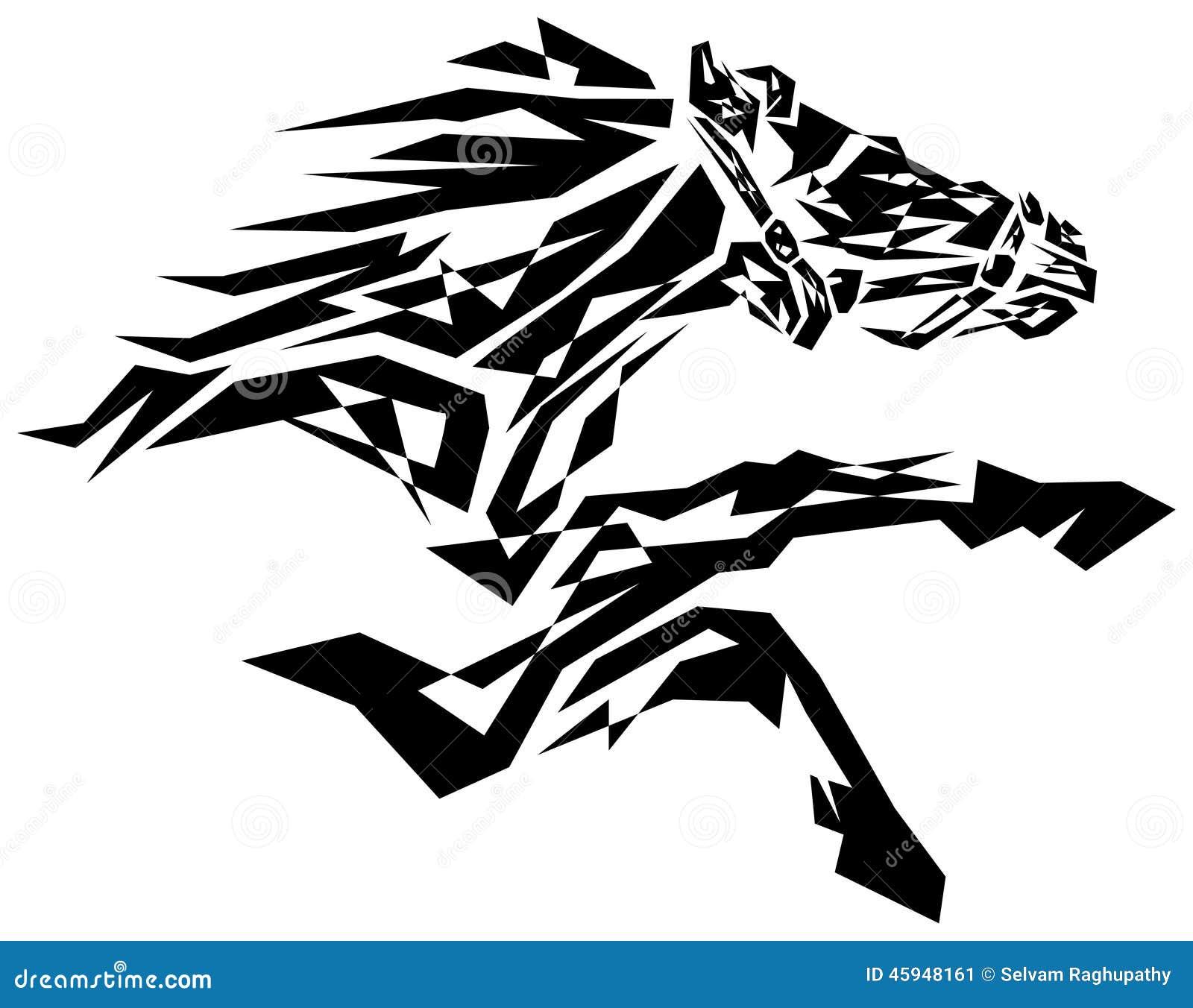 Black Horse Illustration 45948161 Megapixl