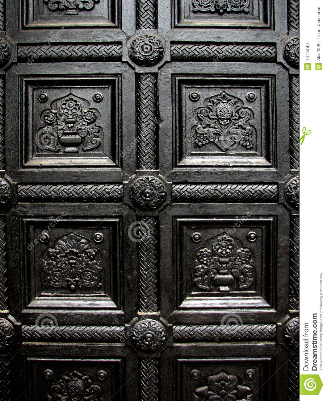 Black House Door Pattern Stock Photo Image Of