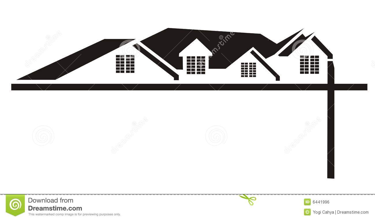Royalty Free Stock Image Black House Roof Logo Image 6441996