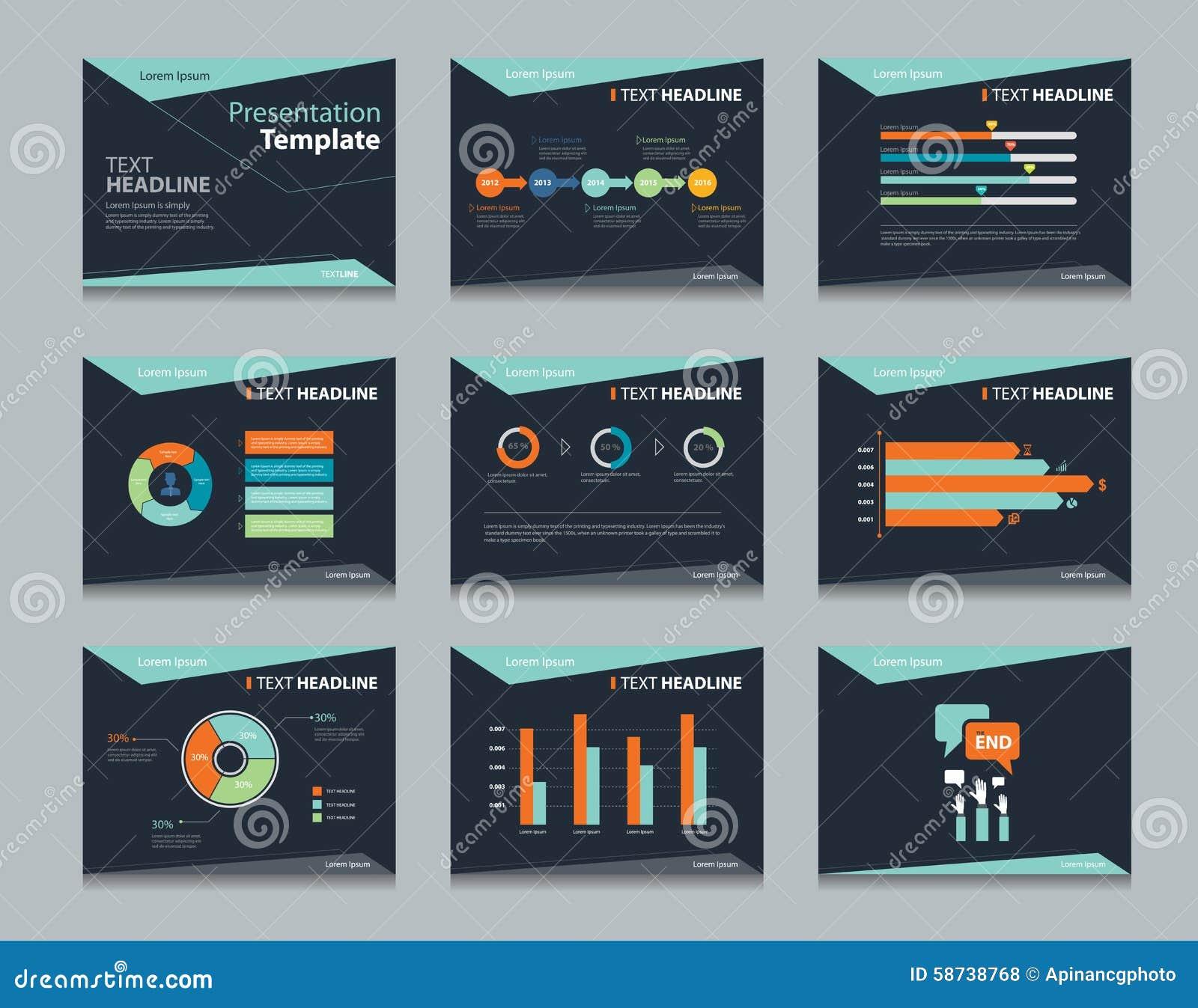 ... template design backgrounds . business presentation template set