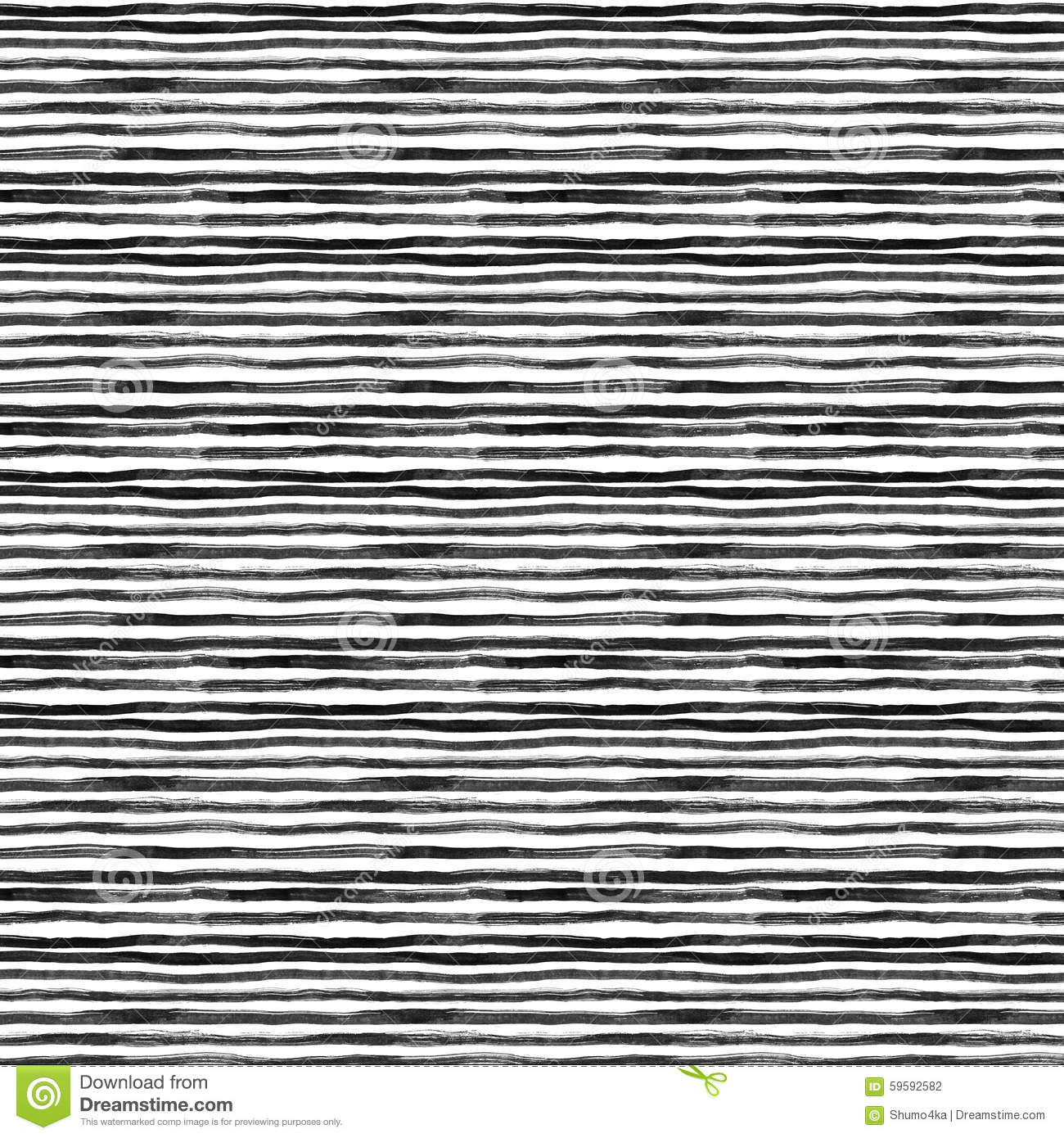 Drawing With Horizontal Lines : Black ink abstract horizontal stripes background hand
