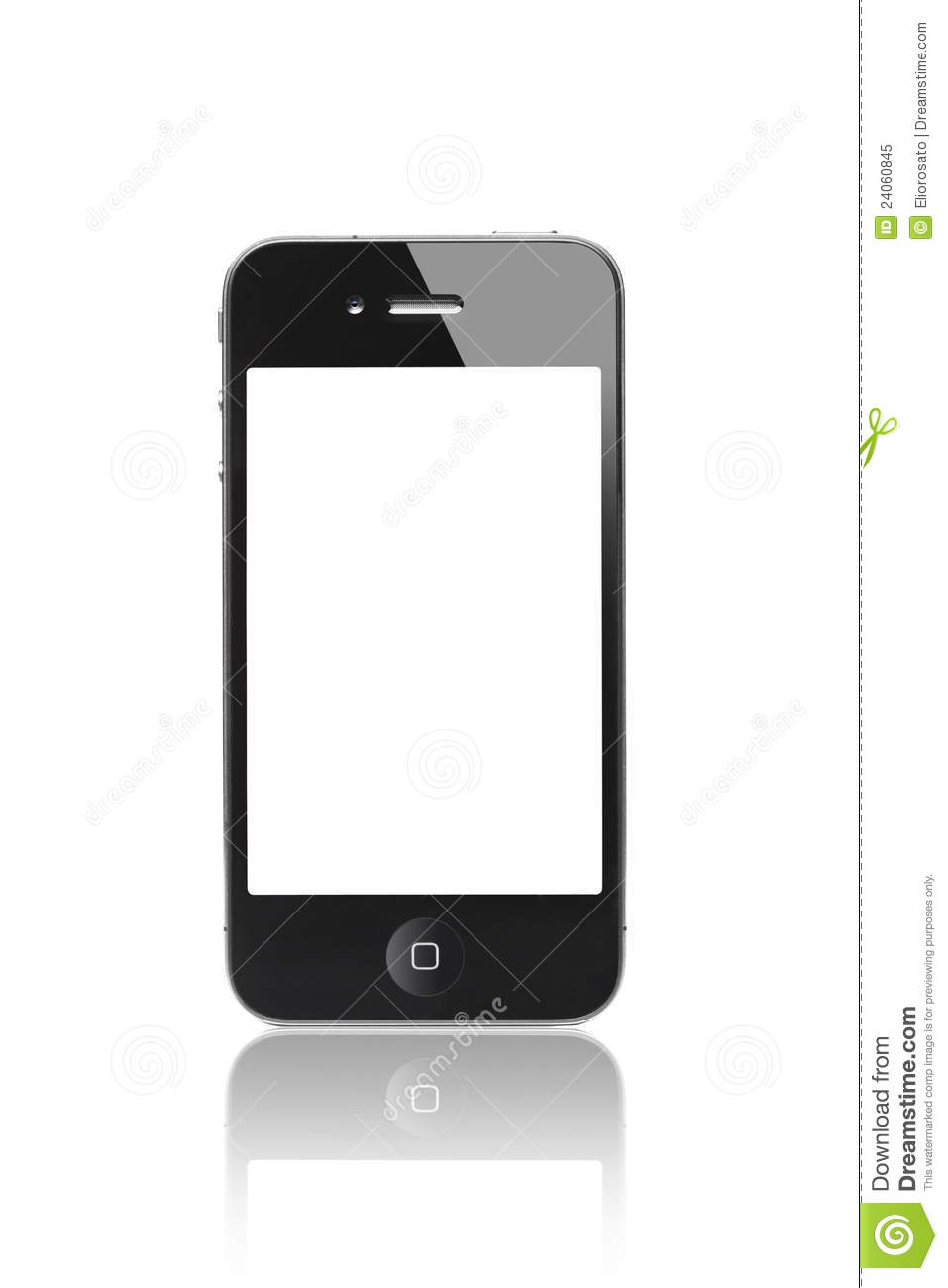 iphone white screen black iphone 4s with a blank screen editorial image 12491