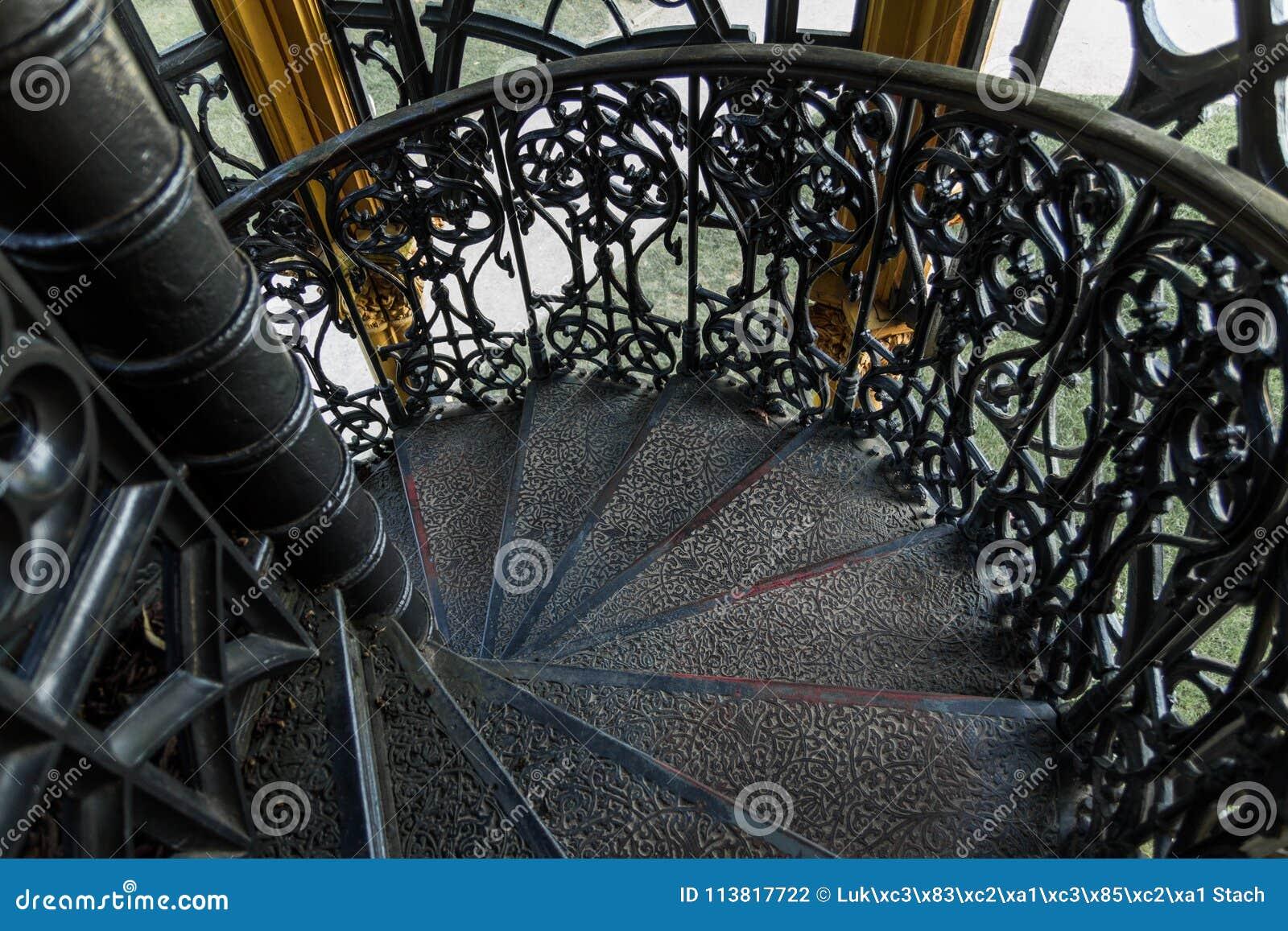 Black Iron Round Stairs