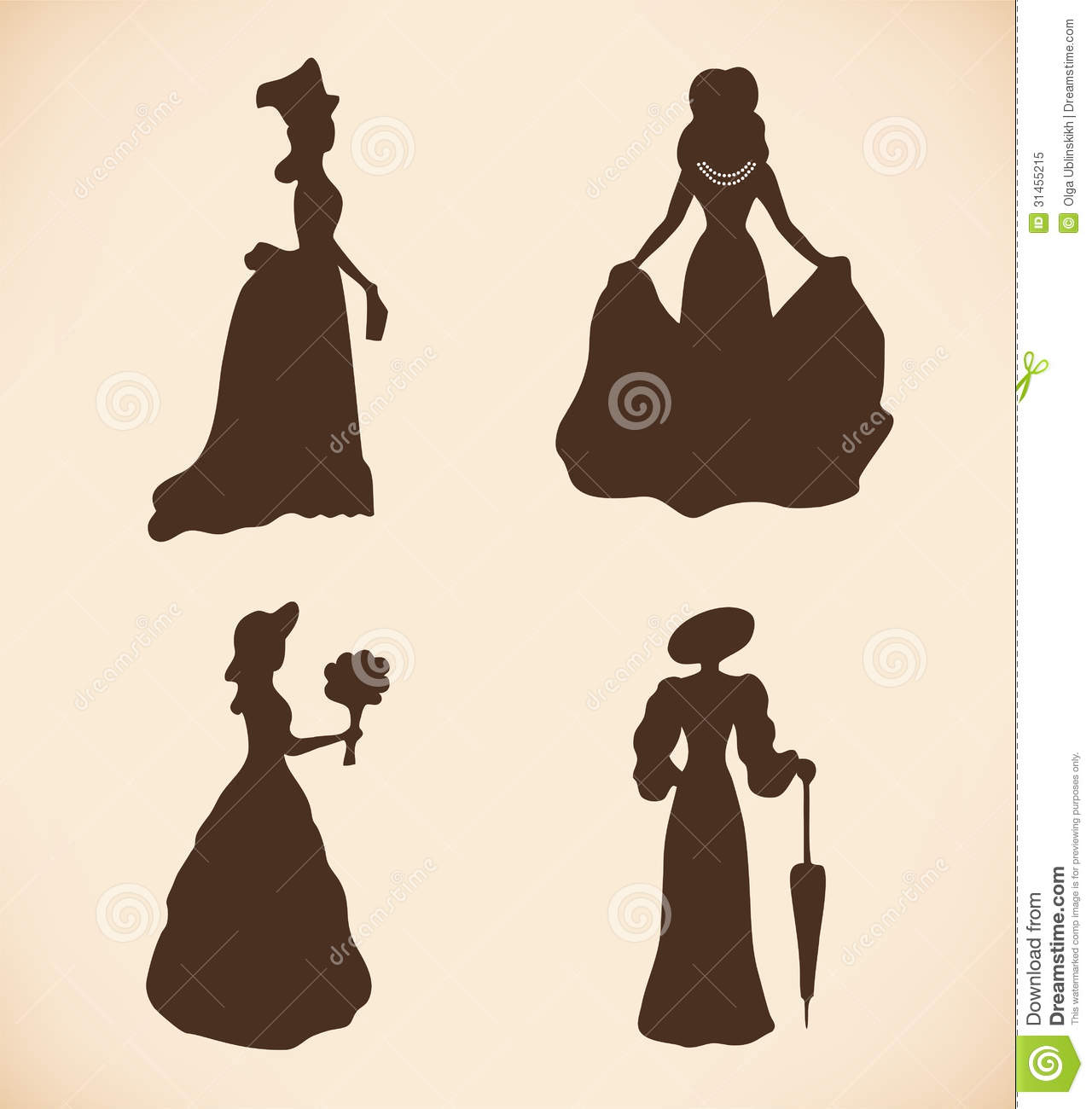 black isolated women silhouettes vintage icons co royalty