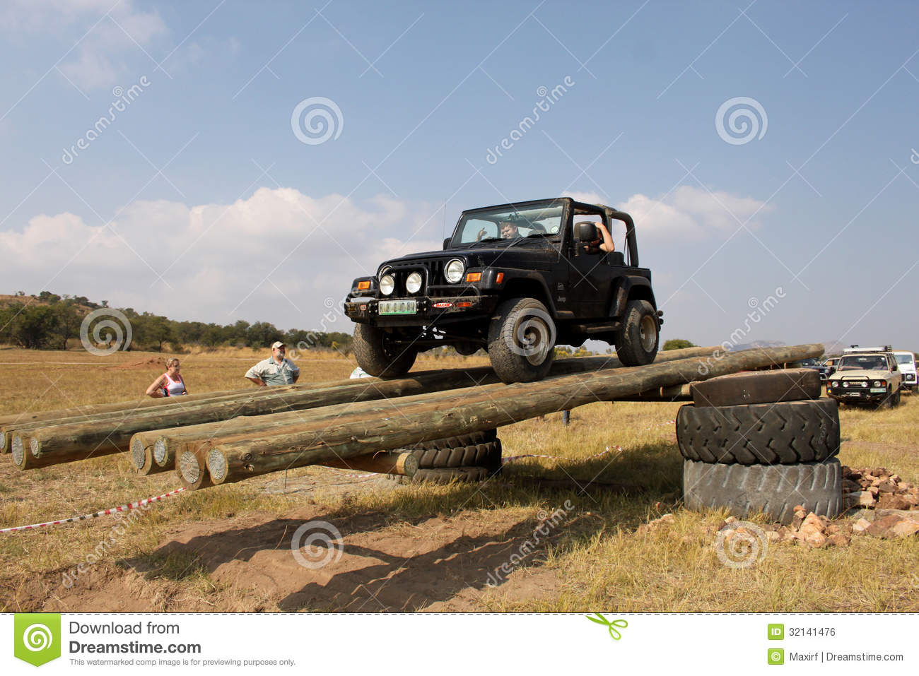 Black Jeep Wrangler On 4x4 Course Editorial Photo Image