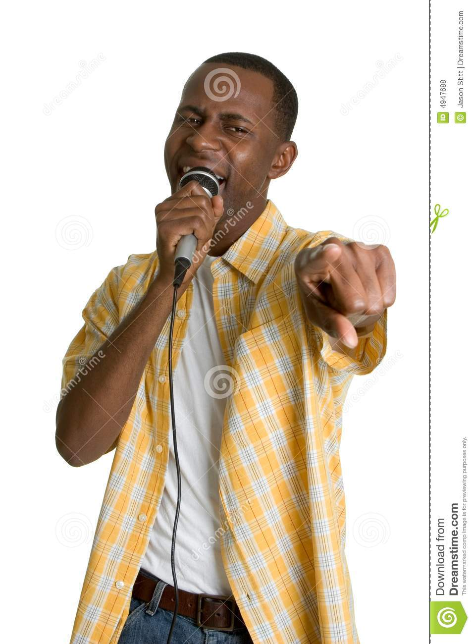 Black Karaoke Man Royalty Free Stock Photos Image 4947688