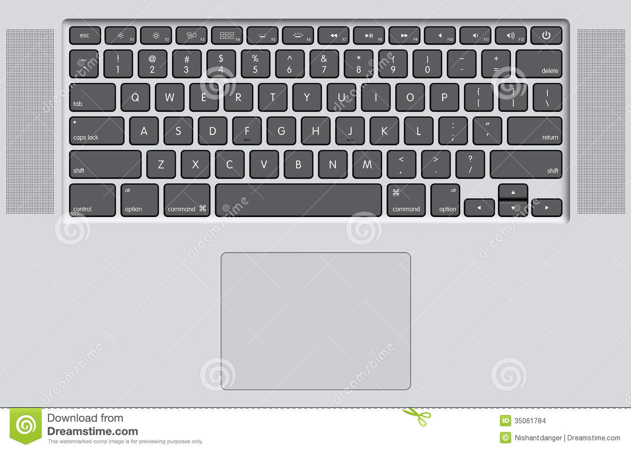 Black Keyboard Of White Laptop Stock Images Image 35061784