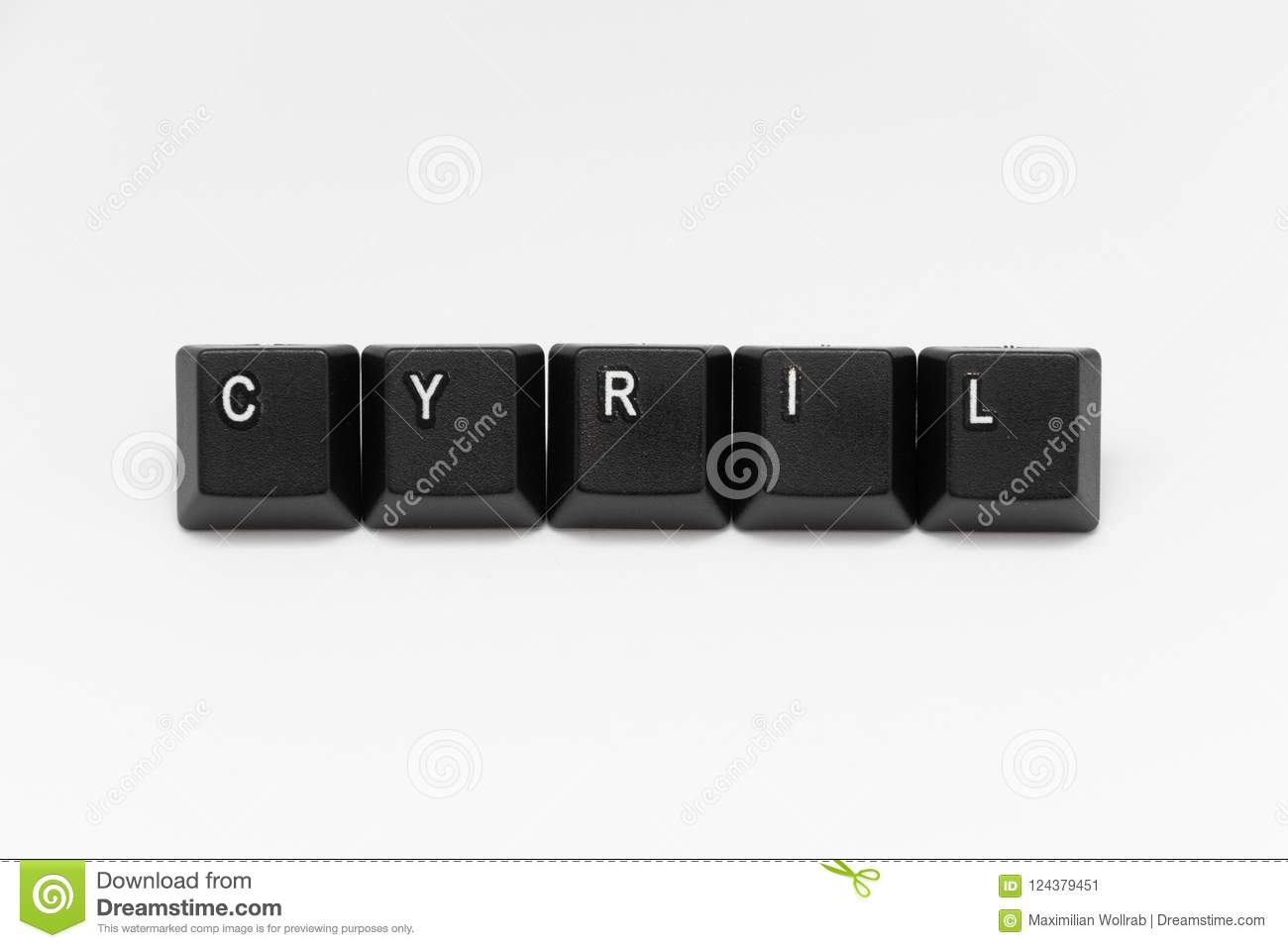 Black Keys Of Keyboard With Different Years Words Names Stock