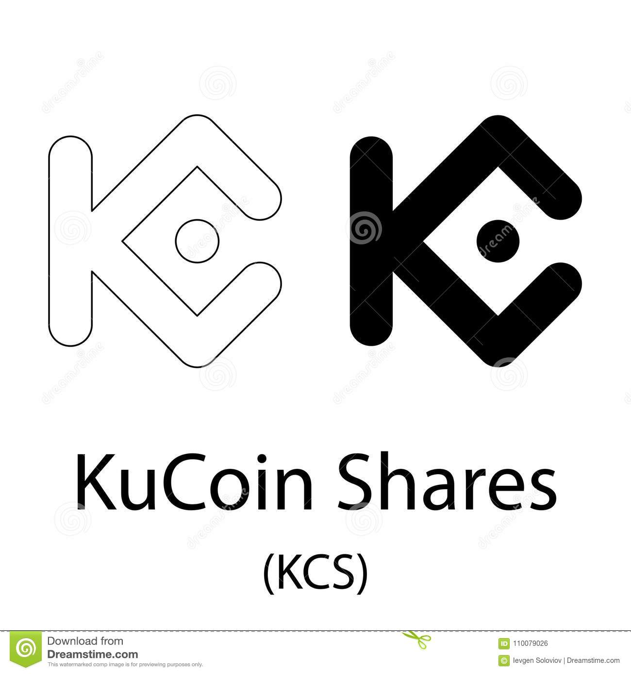 Download KuCoin Shares Black Silhouette Stock Vector
