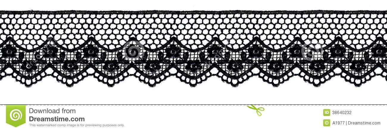 8a895d0b7 Black lace band stock photo. Image of decoration