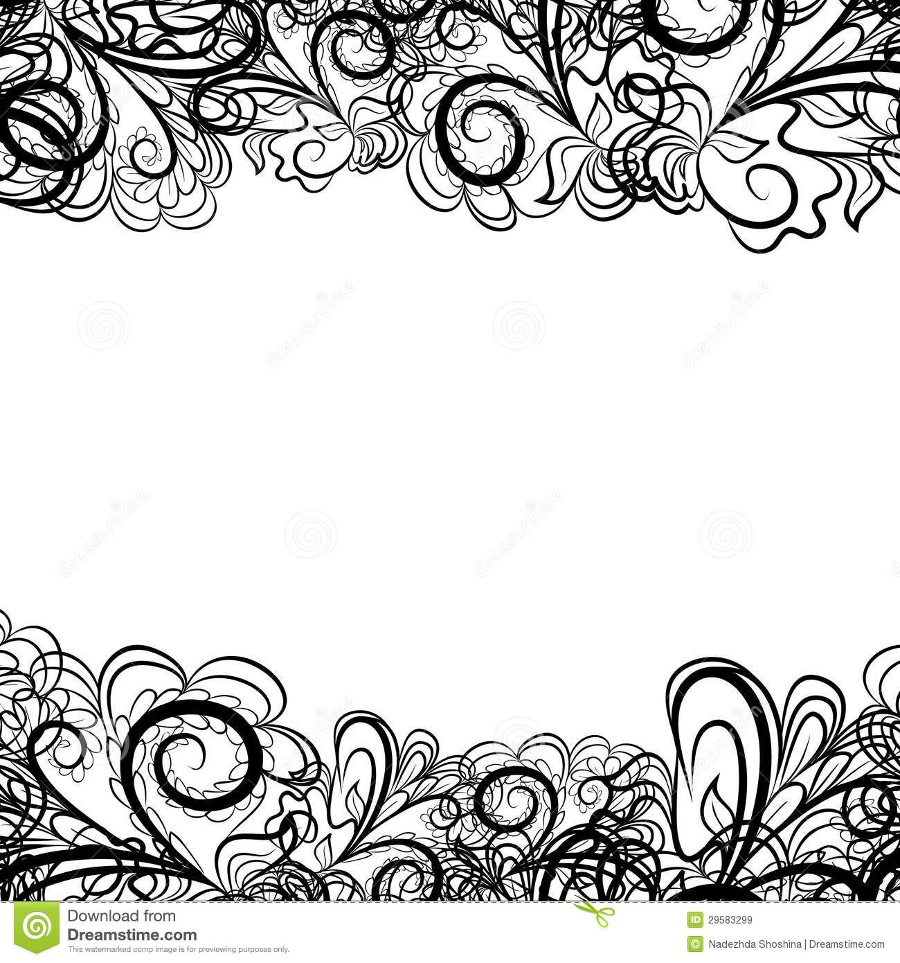 black lace border stock vector illustration of lace 29583299