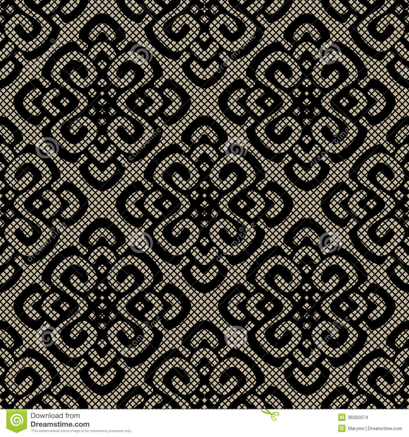 black lace damask pattern stock images image 36092074