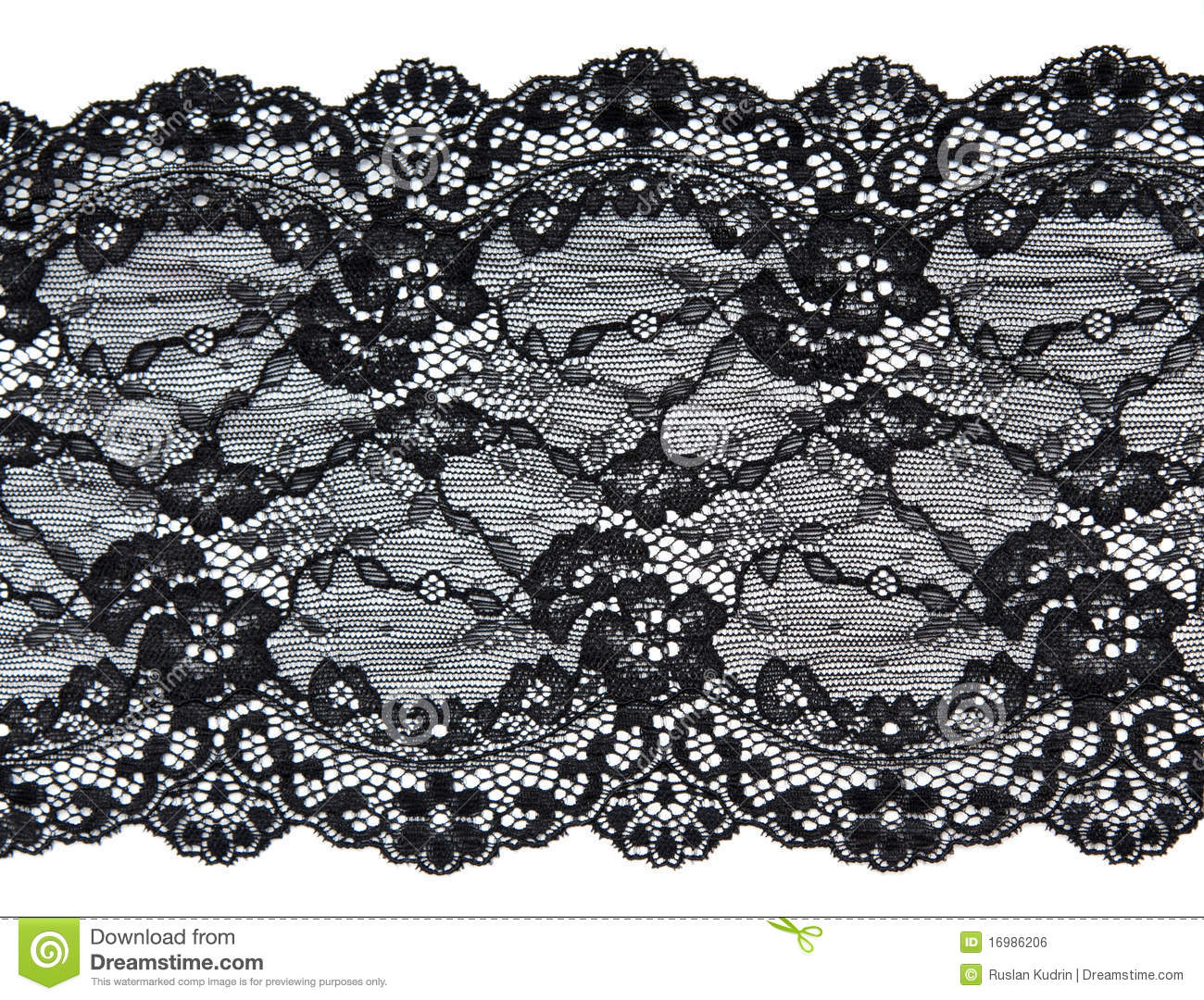 Black Lace With Pattern In The Manner Of Flower Royalty Free Stock ...