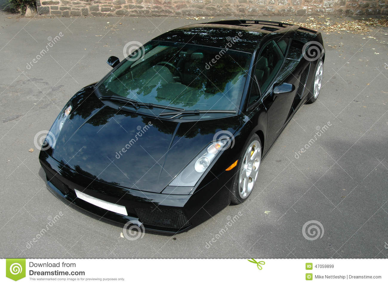 Black Lamborghini Murcielago Sports Car Alloy Wheels Stock Image