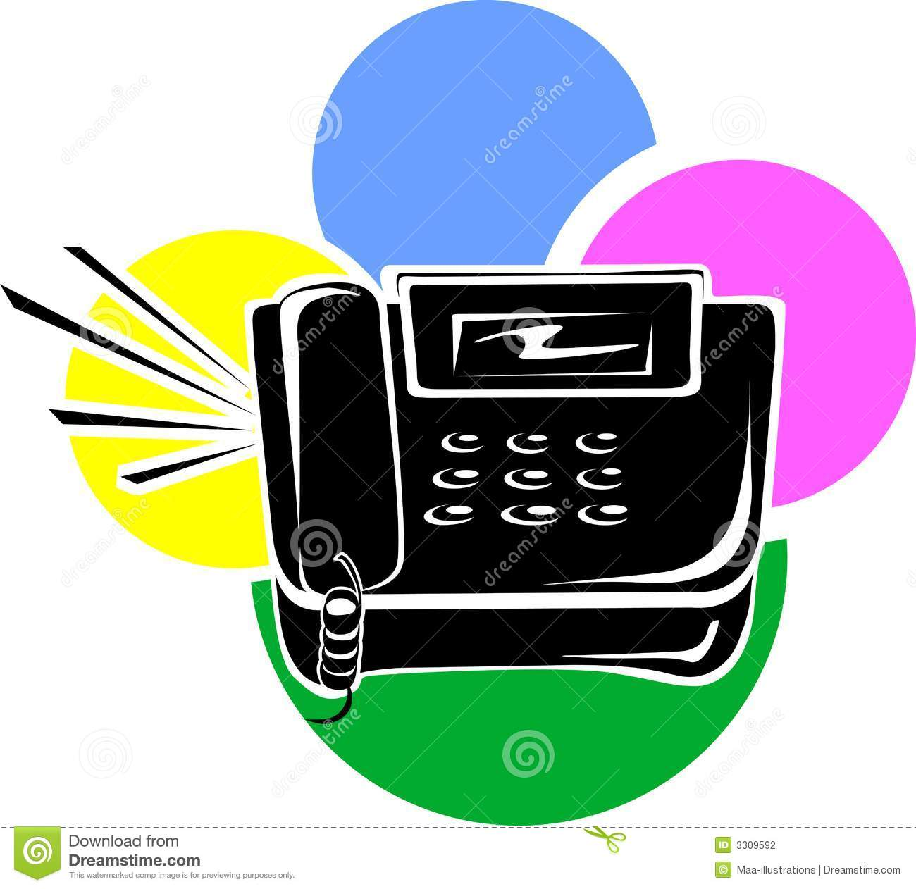 Black land phone stock vector illustration of telephone 3309592 black land phone biocorpaavc