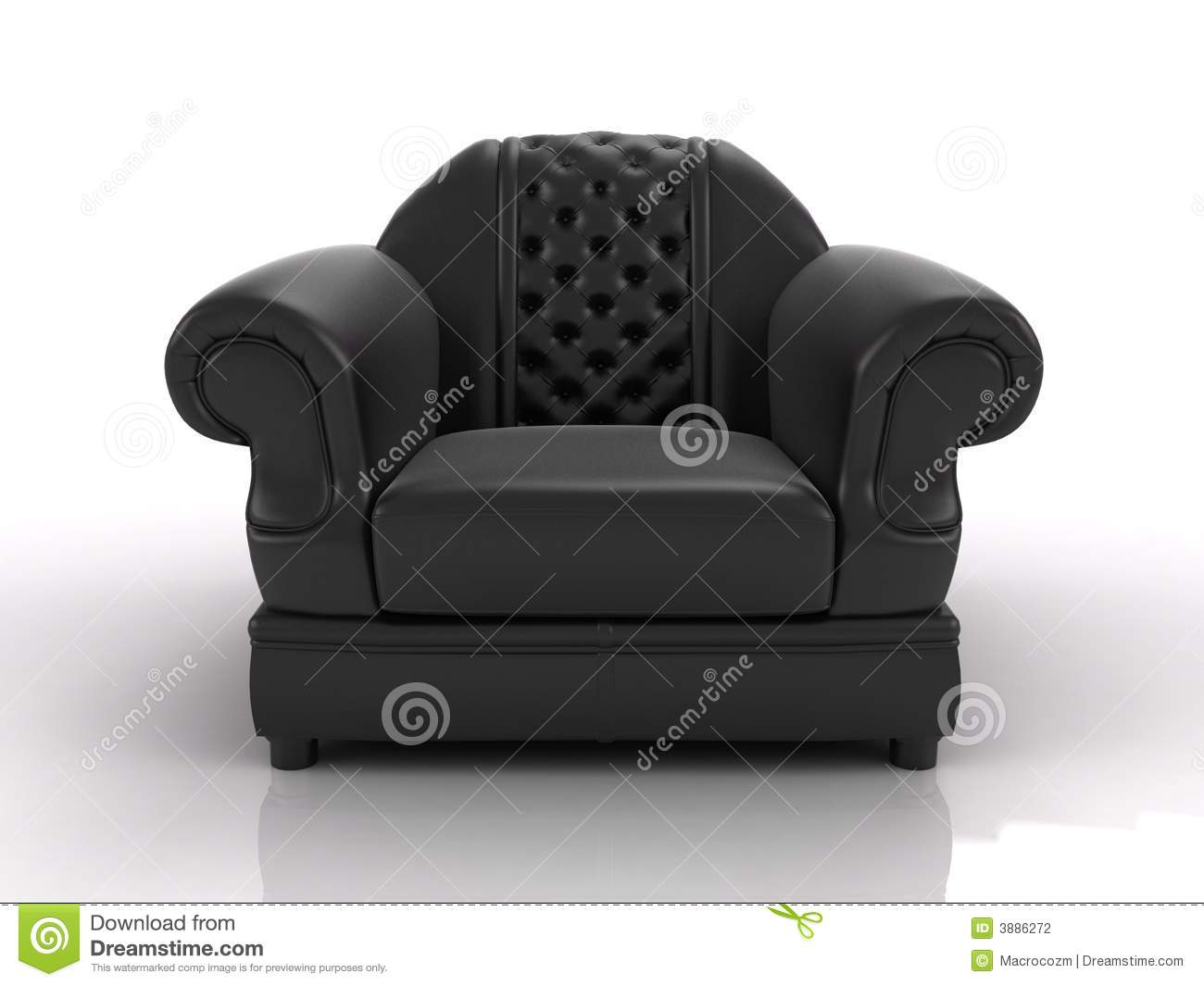 Black leather armchair stock photography image 3886272