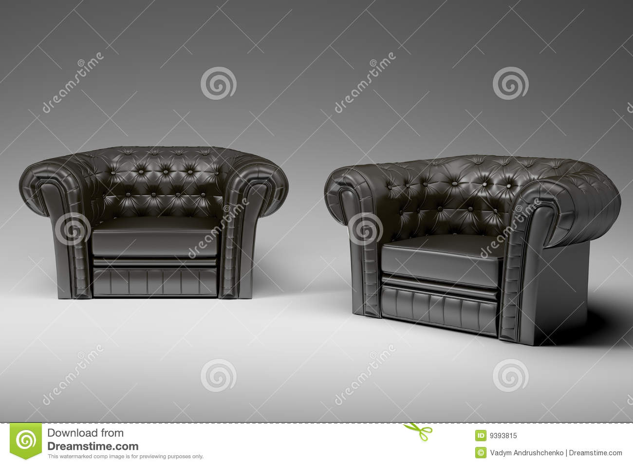 Black leather armchair 3d royalty free stock photo image 9393815