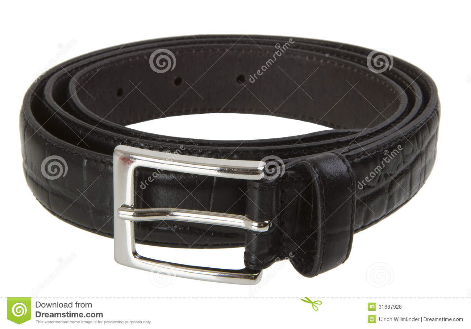 Black Leather Belt Royalty Free Stock Photos