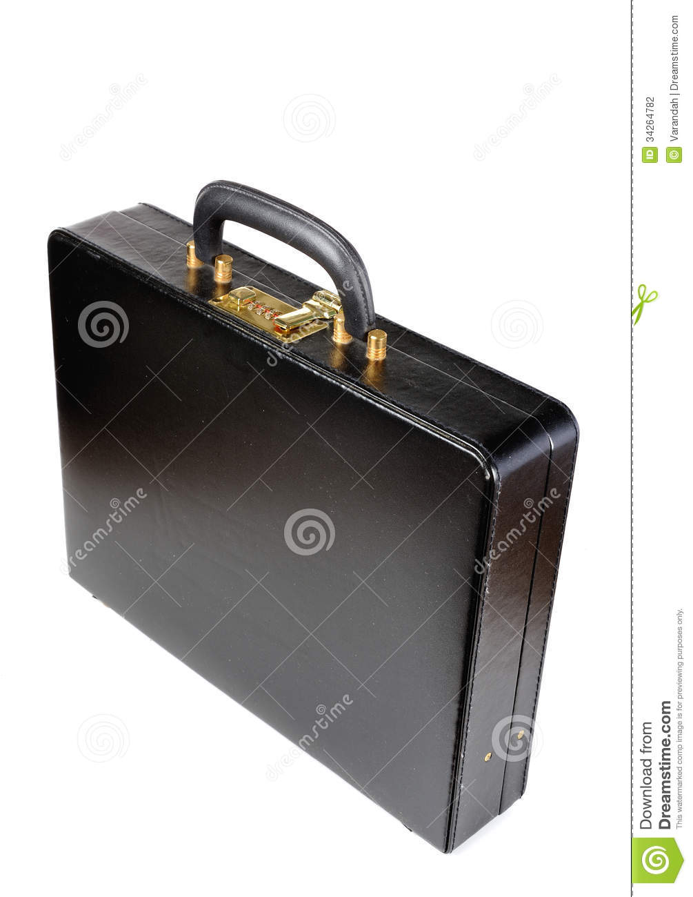 Download Black Leather Briefcase With Combination Lock Stock Photo   Image  Of Storage, Latch: