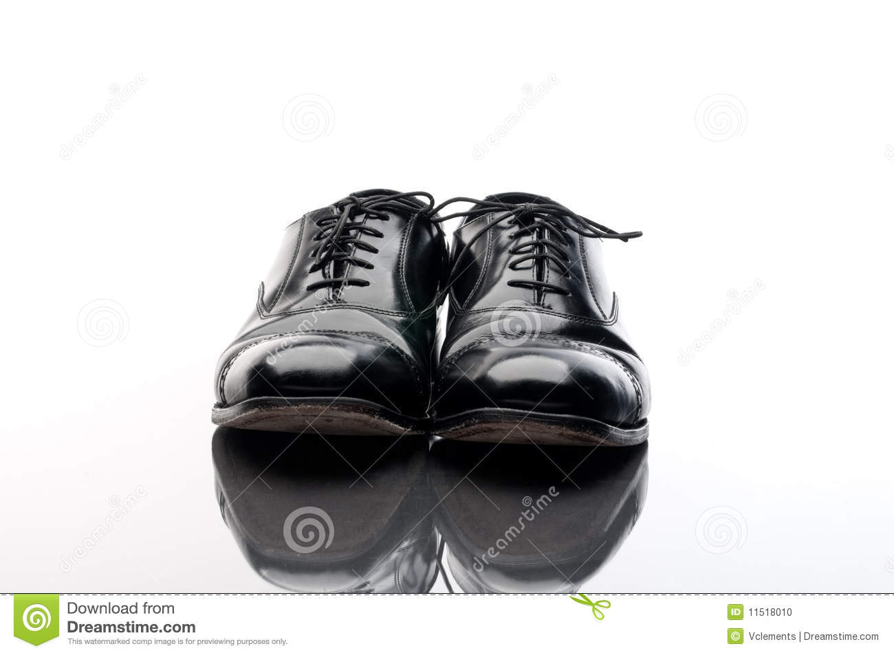 black leather business shoes stock photo image 11518010. Black Bedroom Furniture Sets. Home Design Ideas