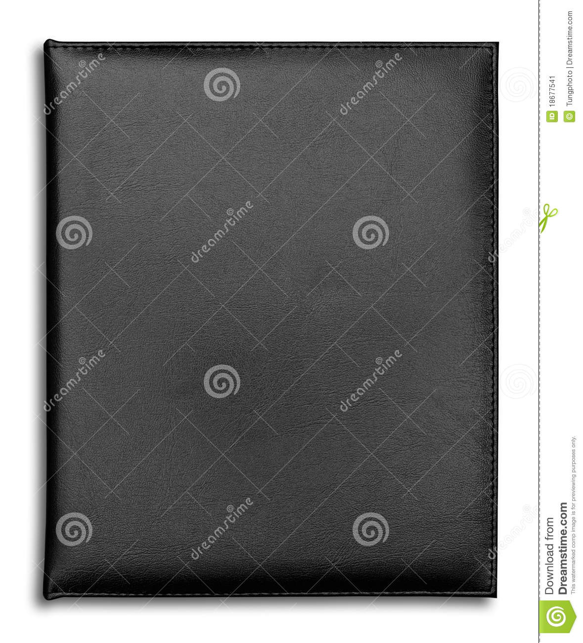 Black Leather case notebook isolated